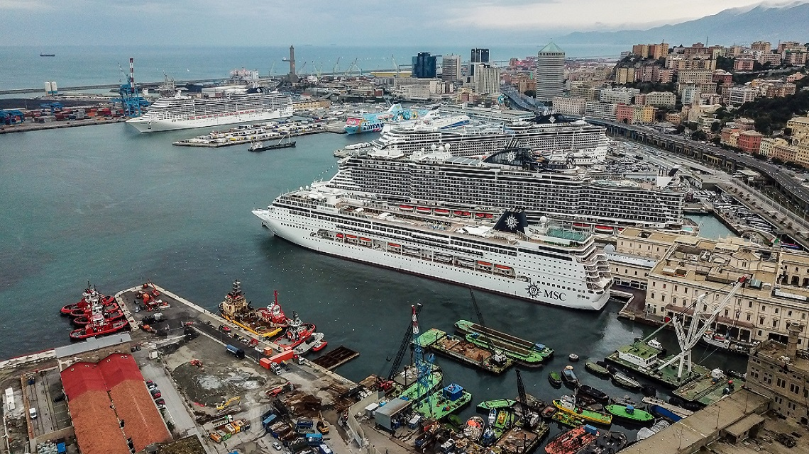 MSC Grandiosa: First Mediterranean cruise sets sail from Genoa