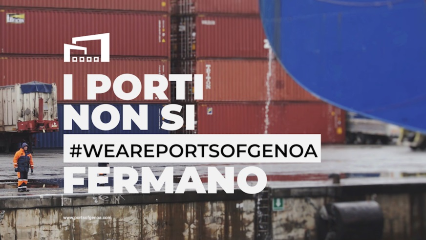 #WeArePortsofGenoa. Video messaggi dalla shipping community