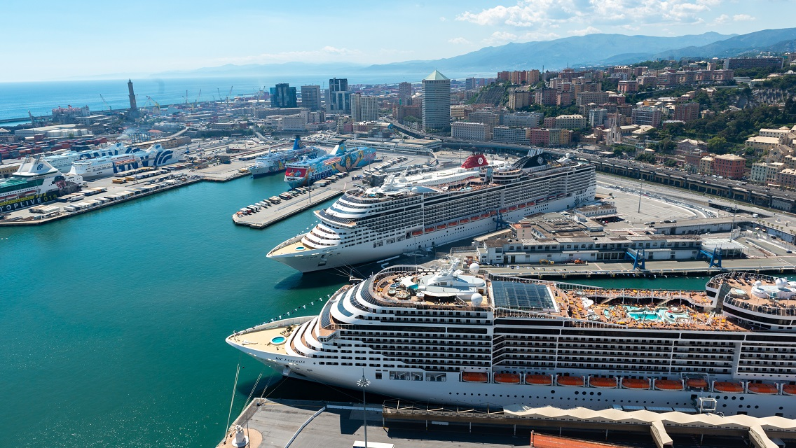 Genoa climbs to 6th place in the Top Ten Med Cruise Port ranking
